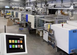 Plastics production hall with DU11 Data Unit